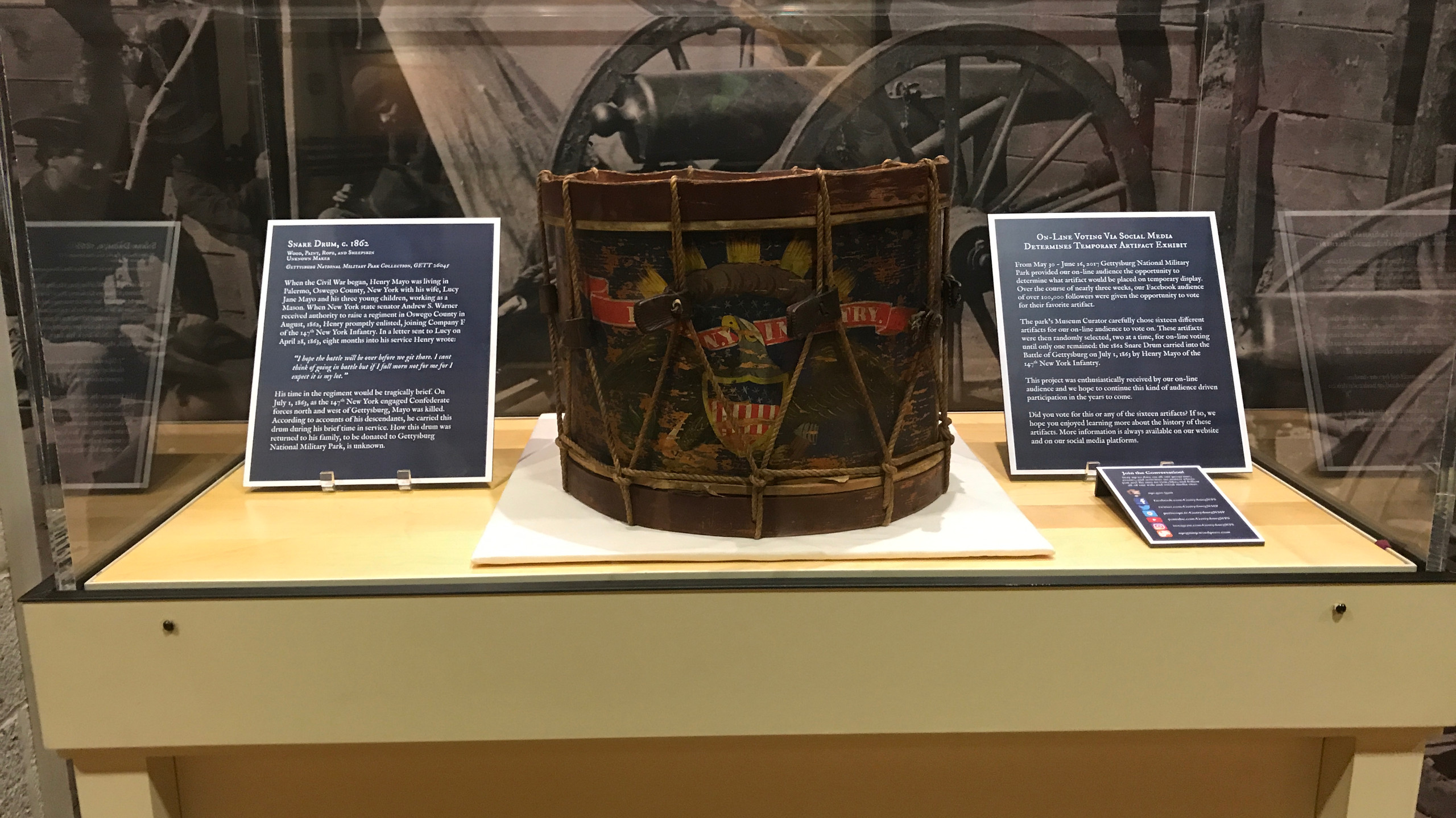 Drum on Display at Visitors Center