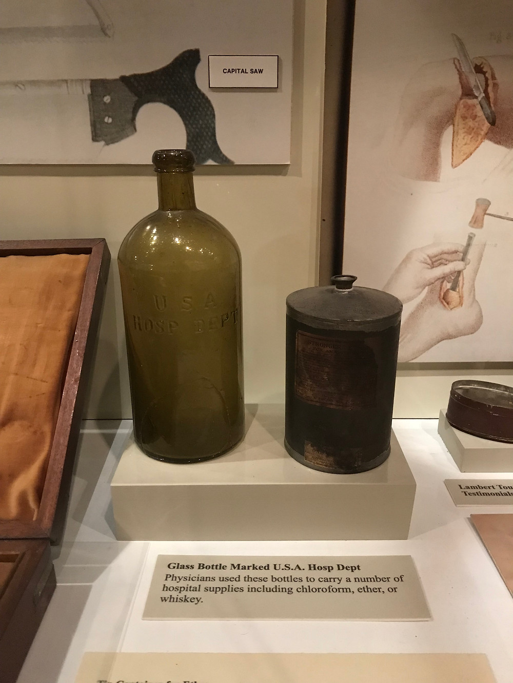 U.S.A. Hosp Dept bottle