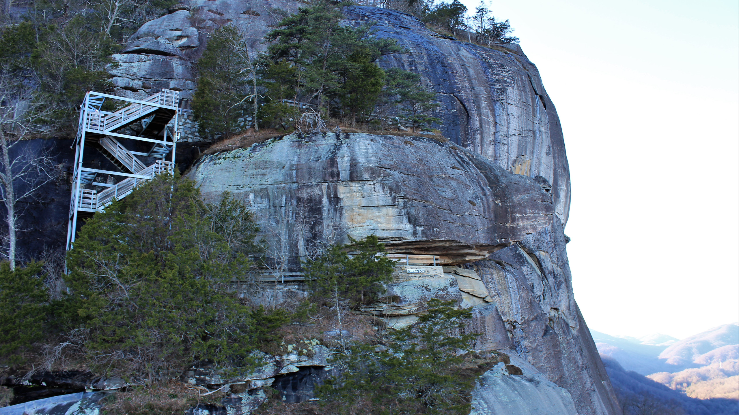 Face of Chimney Rock Mountain