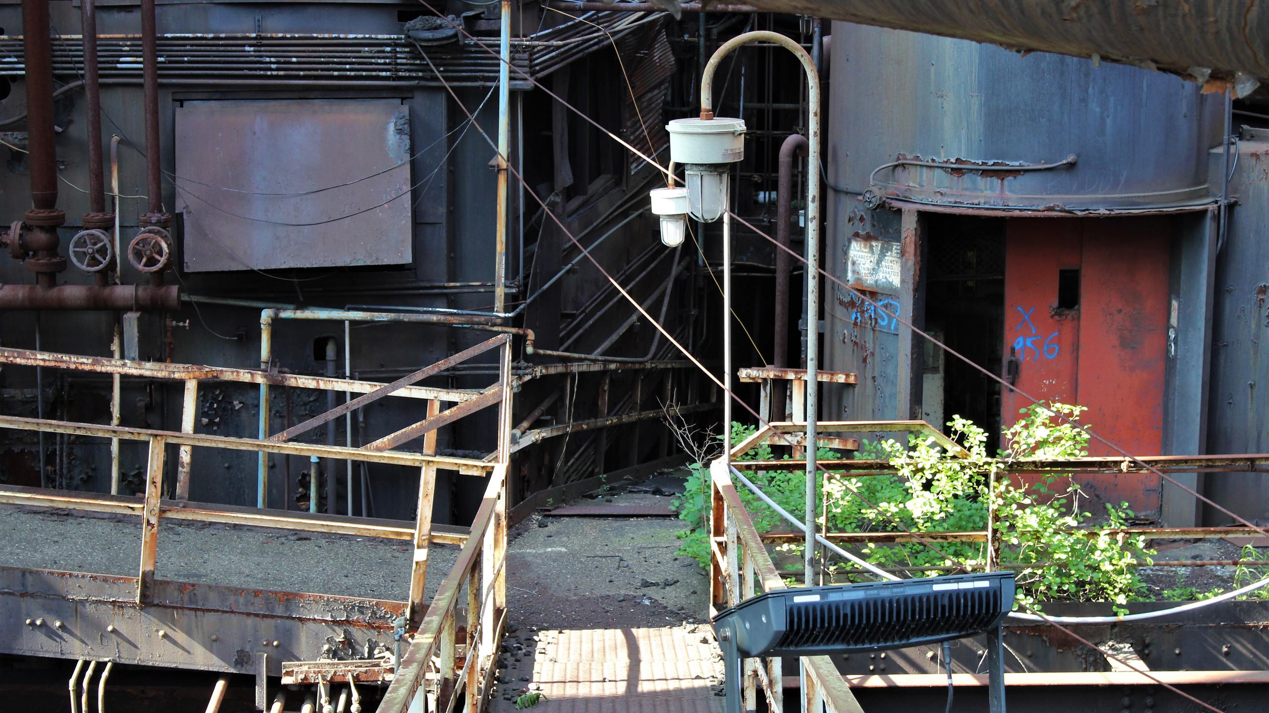 Walkway Inside the Plant
