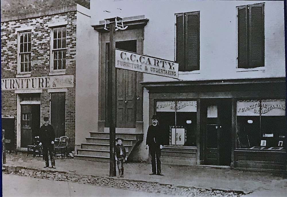 C.C. Carty Furniture and Undertaking--current location of the museum