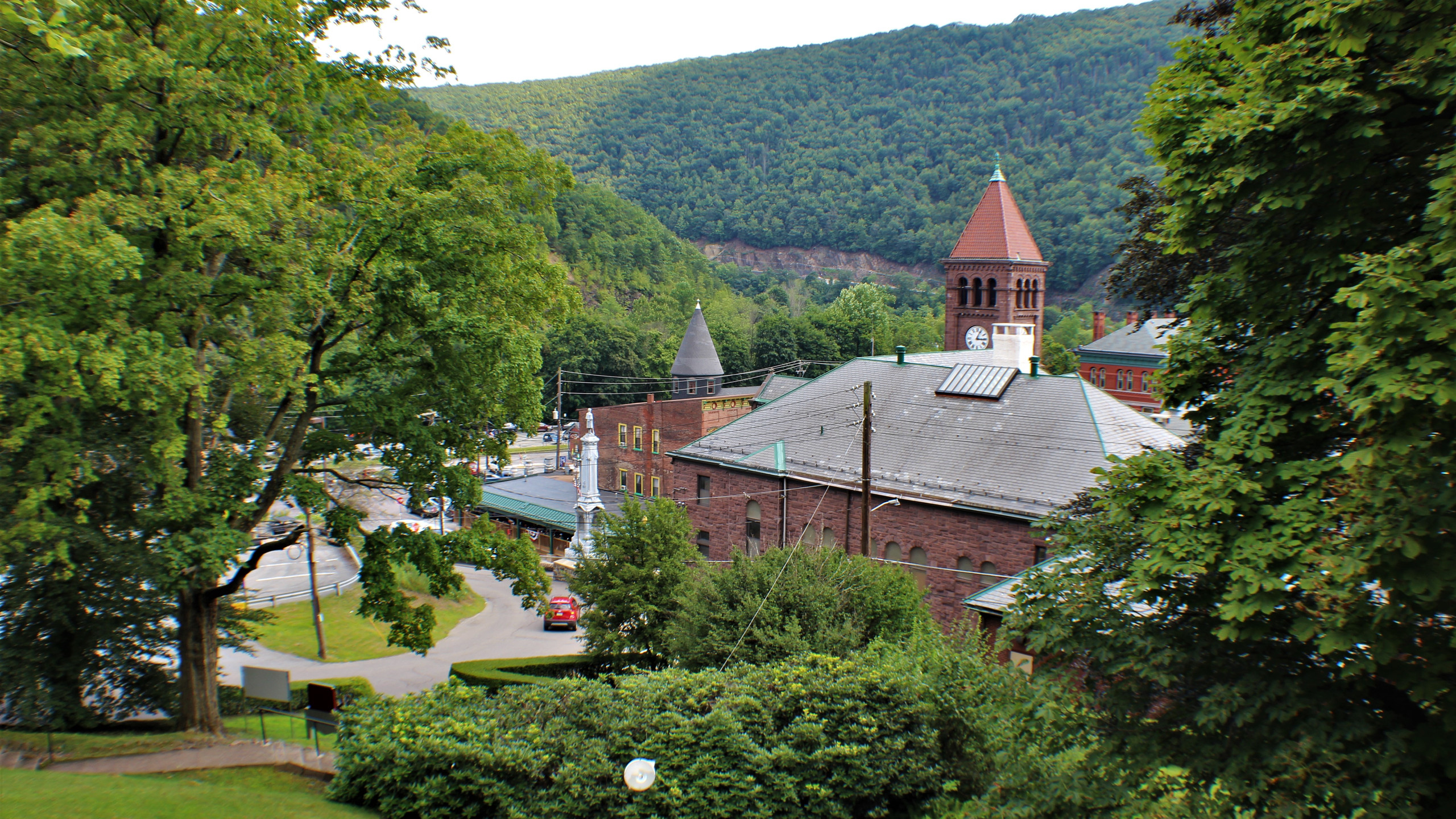View of Jim Thorpe from the Mansion