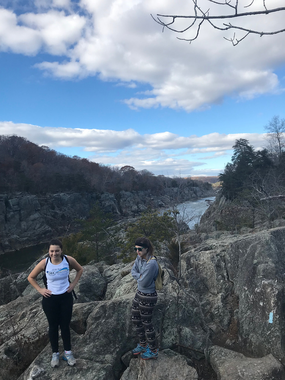 Alexis and Sarah on the Billy Goat Trail