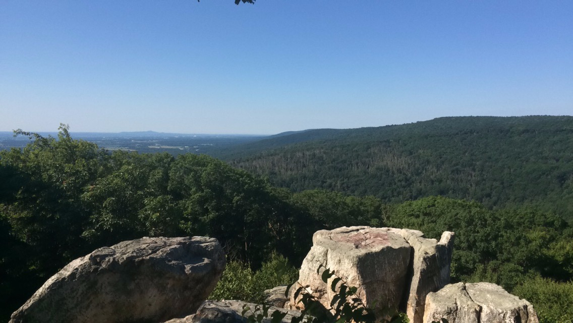 Chimney Rock in the Summer