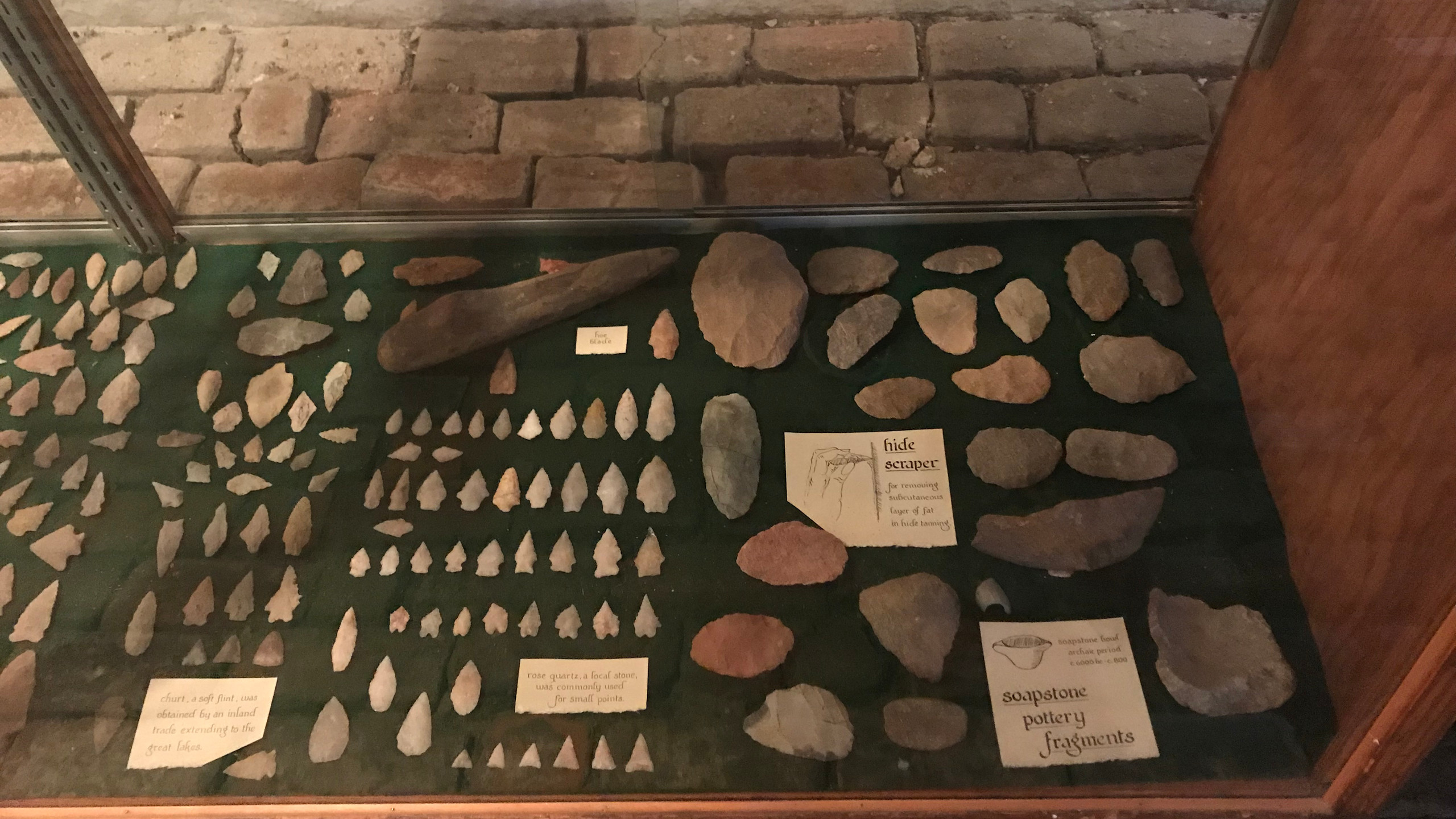 Native American Artifacts on Display