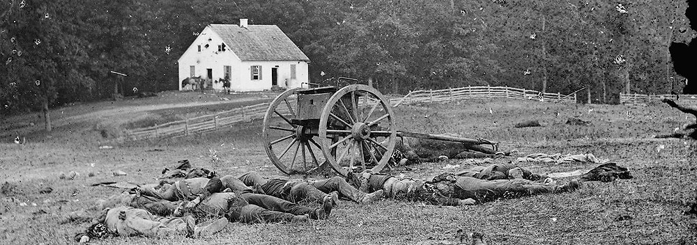 Confederate dead near Dunker Church