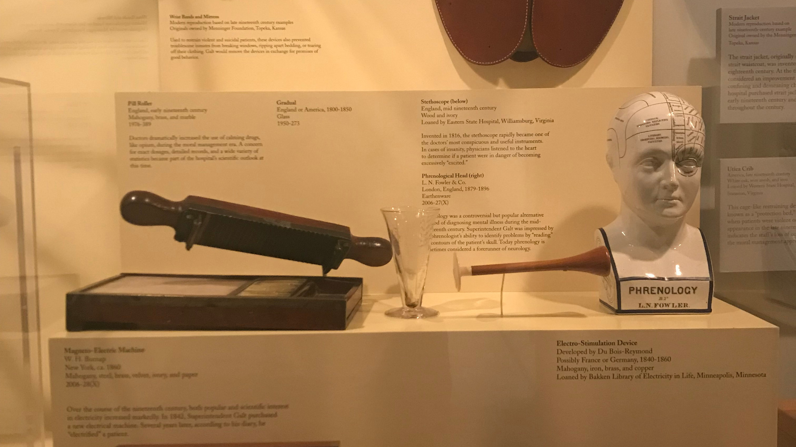 Items on Display at the Hospital