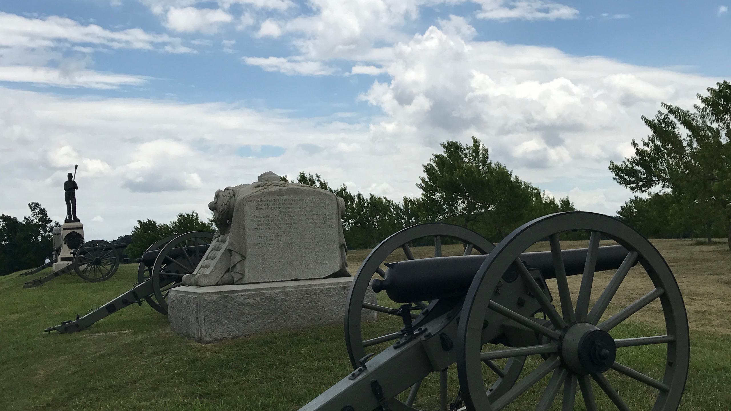 Artillery Line at Peach Orchard