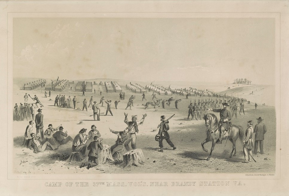 Camp of the 37th Mass. Vol's. near Brandy Station, Va.