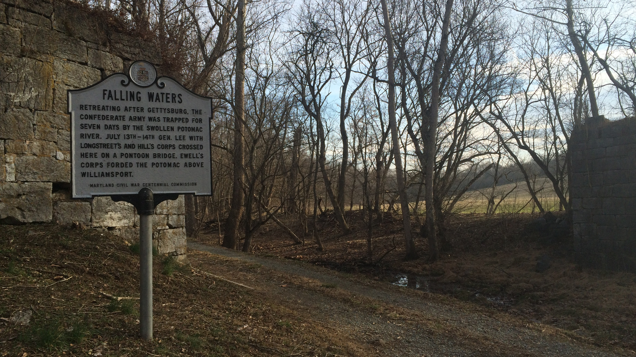 Falling Waters Marker