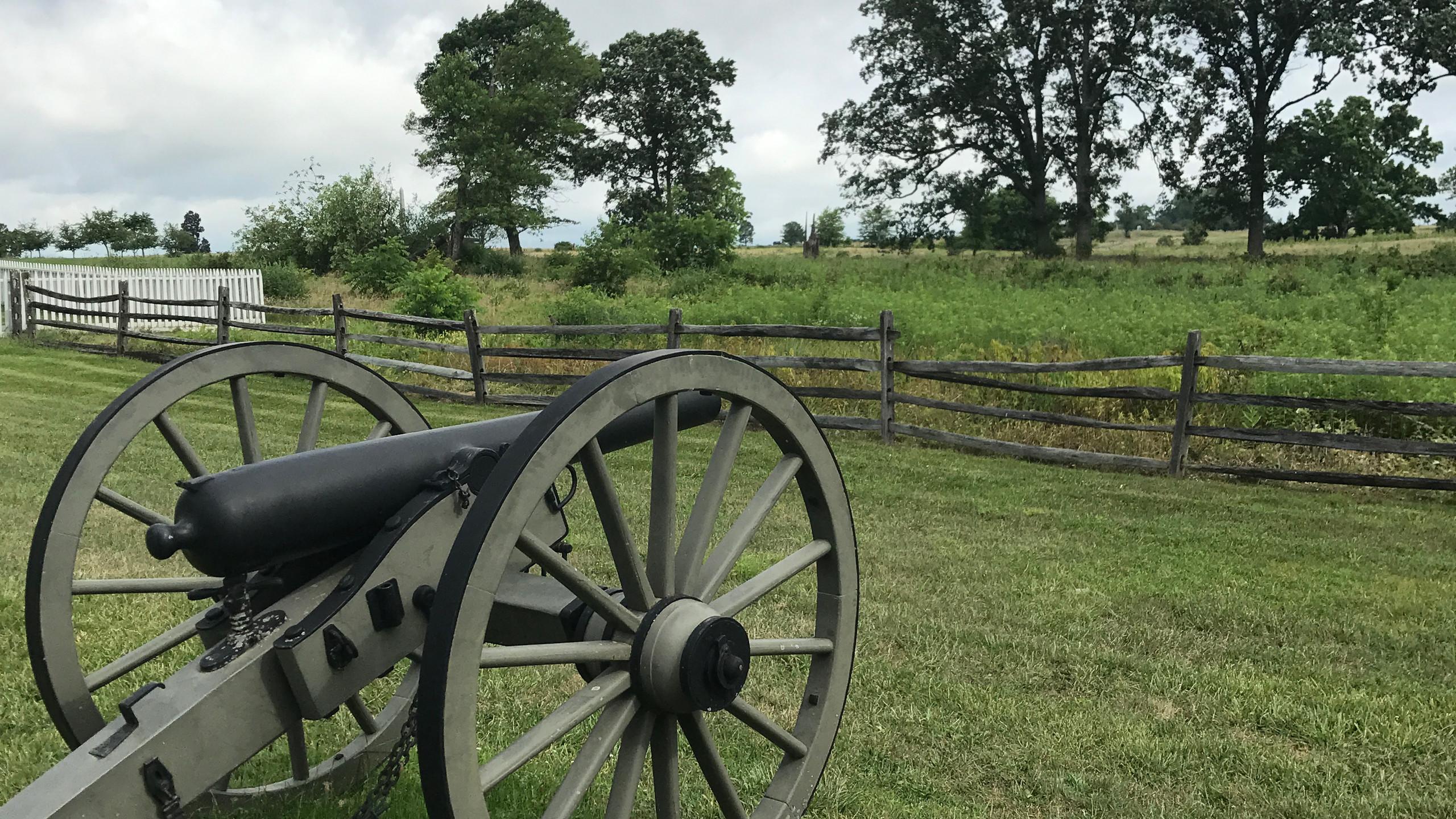Battlefield near Hummelbaugh House