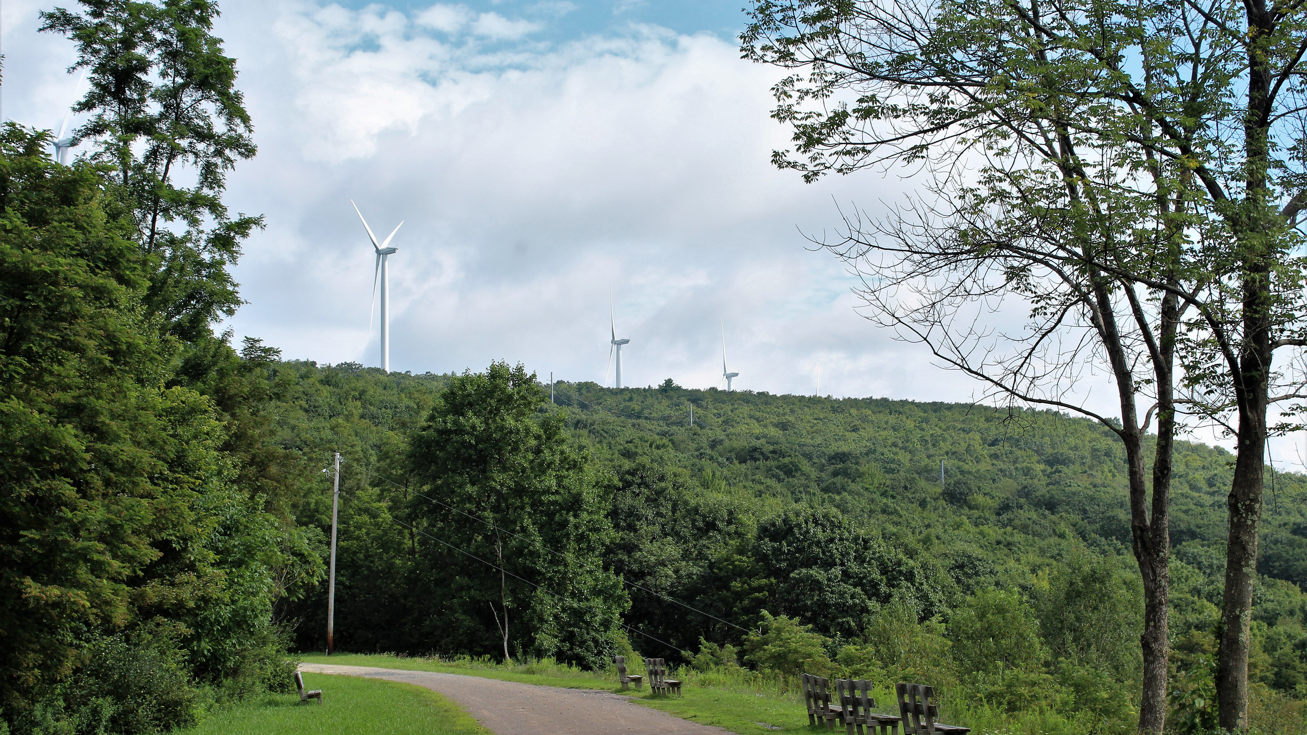 Windmills on Big Savage Mountain