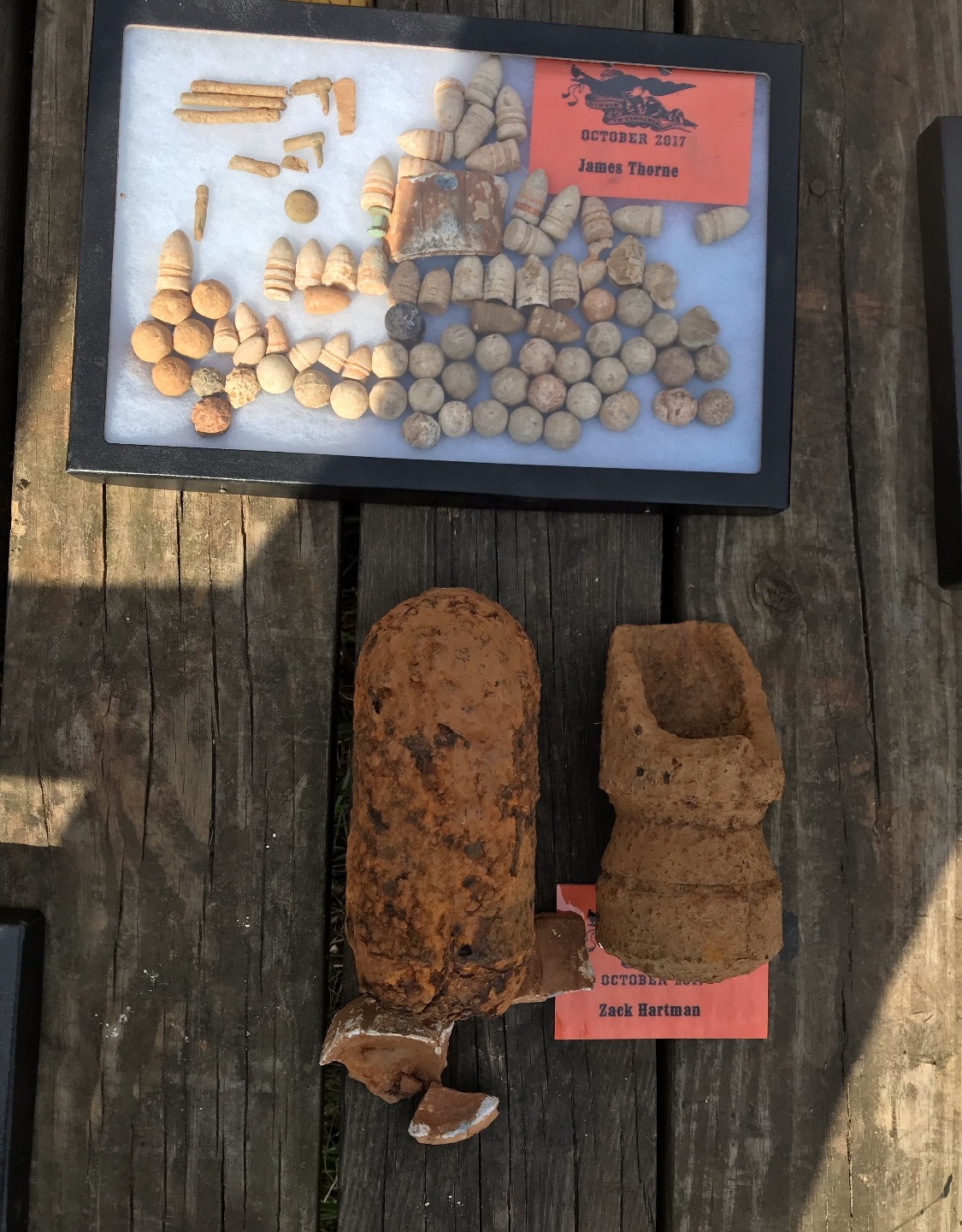 Couple of shells and lots of lead
