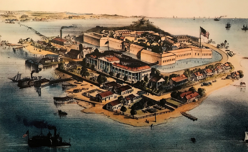 1861 lithograph of Fort Monroe