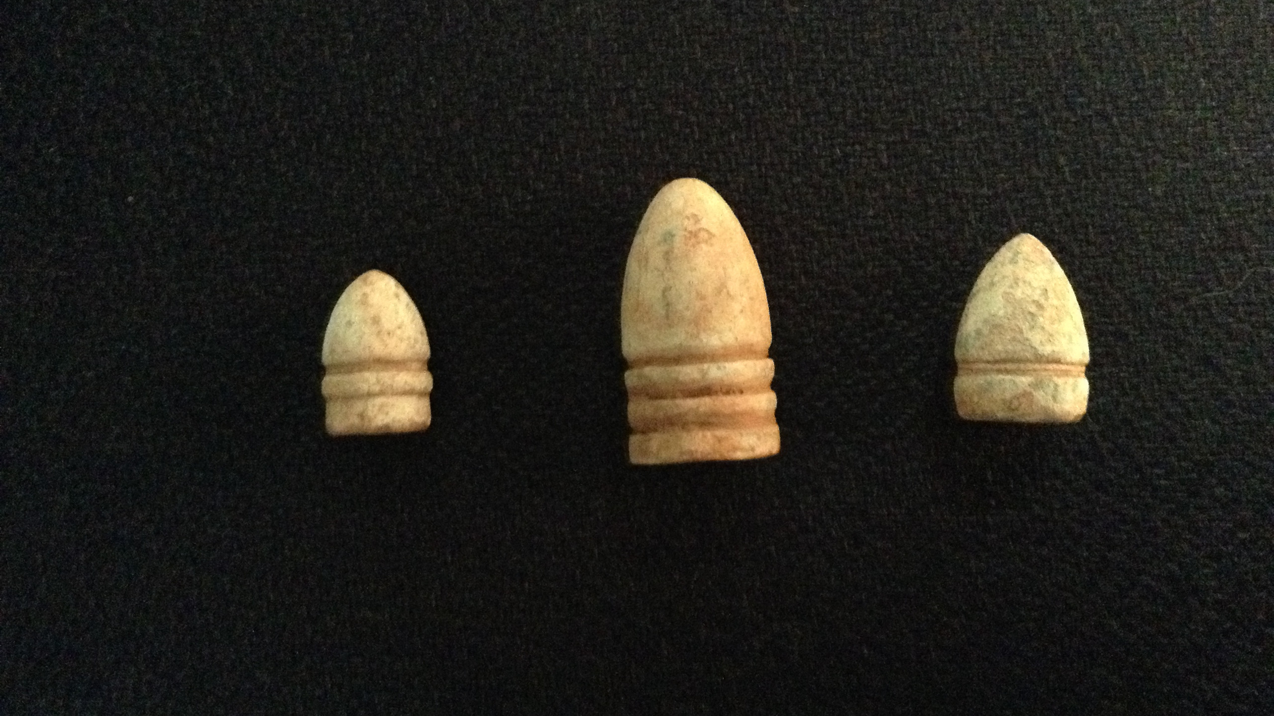 A variety of bullets