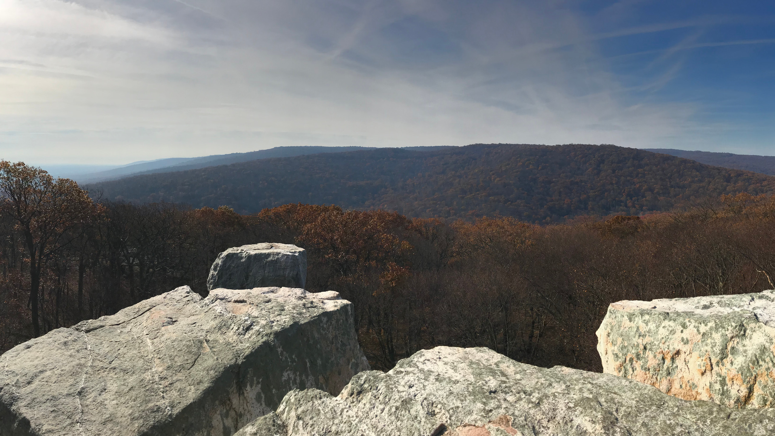 Panorama of Chimney Rock View