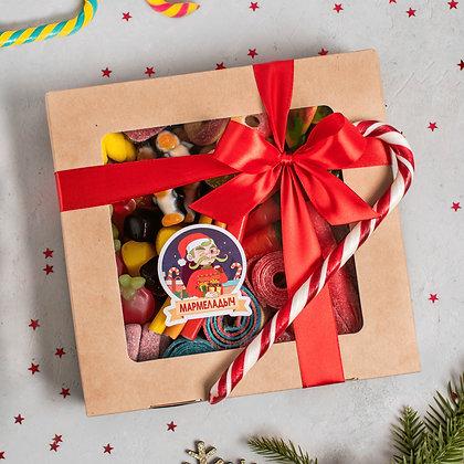 Новогодний BIG BOX с окном/пожеланием
