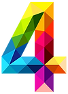 Colourful_Triangles_Number_Four_PNG_Clip