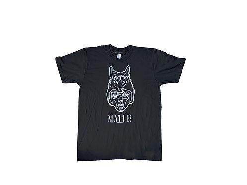 Lone Wolf Matte Black logo T