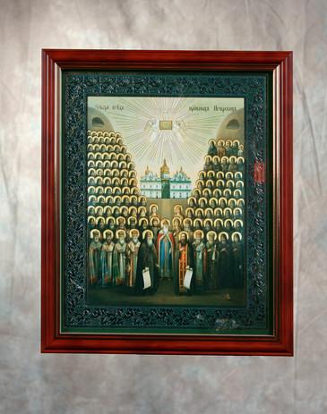 Икона Собор преподобных старцев Печерски