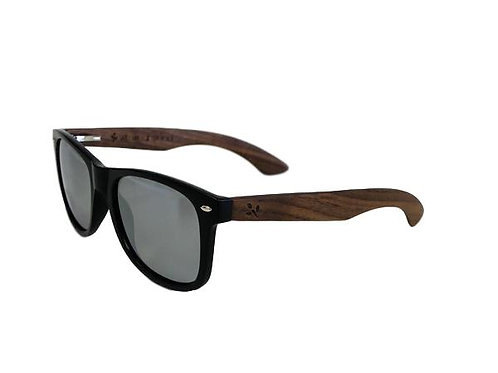 WearWood Silver Lens Walnut Sunglasses