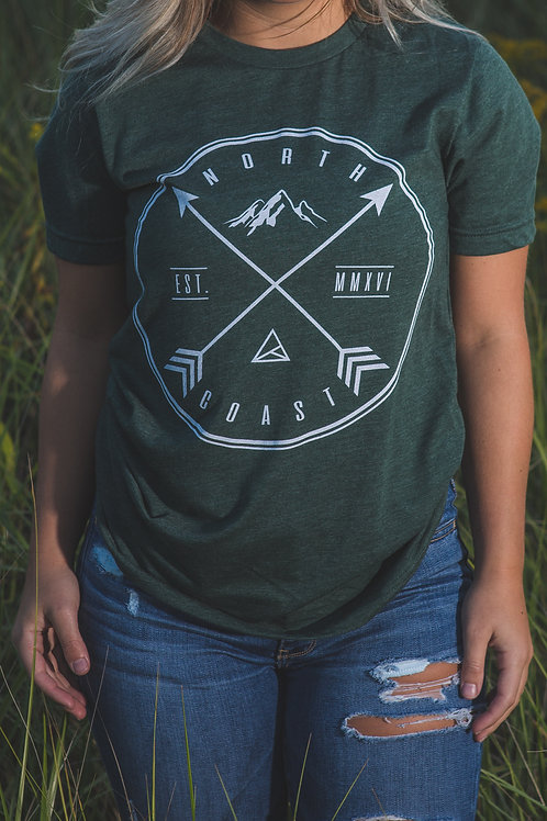Circle X Arrows Tee | Heather Forest