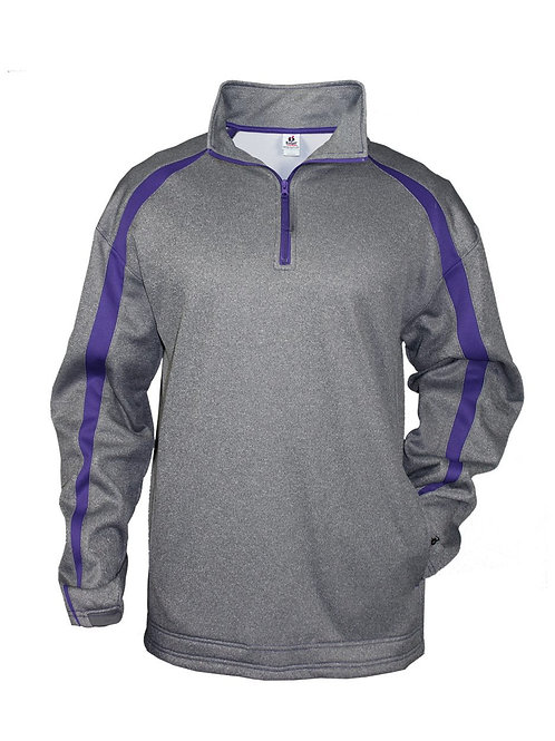Badger - Pro Heather Fusion Perfomance Fleece Quarter-Zip Pullover - 1481