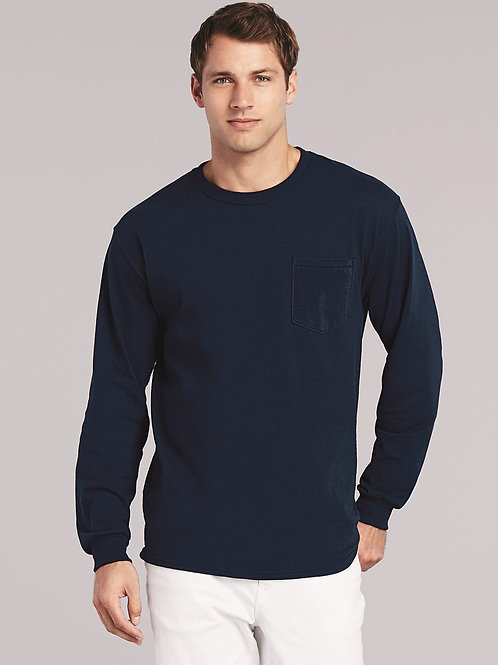 Gildan - Ultra Cotton Long Sleeve T-Shirt with a Pocket - 2410