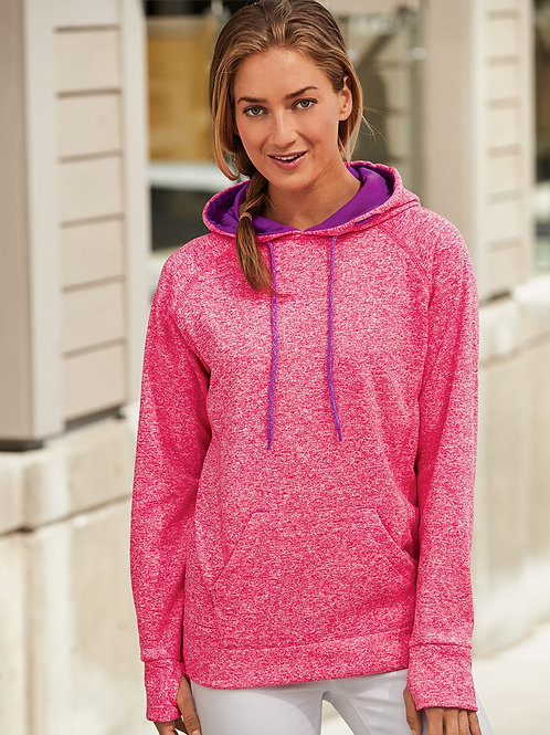 J. America - Women's Cosmic Fleece Contrast Hooded Pullover Sweatshirt - 8616