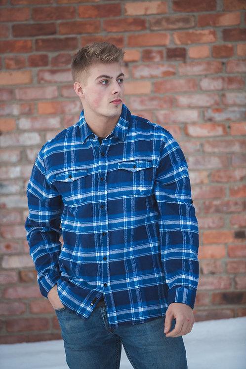 Cool Blue U.P. Flannel