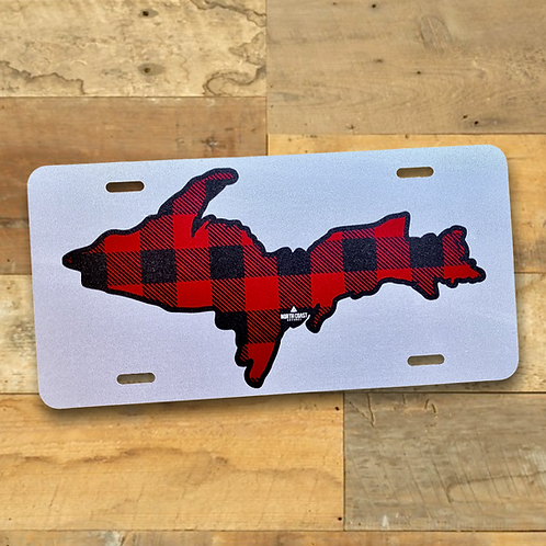 Buffalo Plaid U.P. License Plate