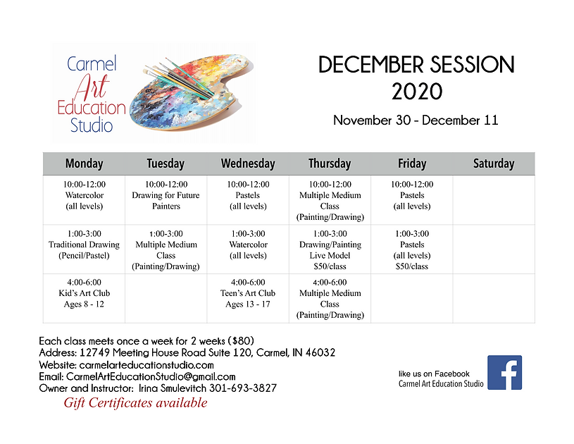 Class Schedule December Session 2020_Pag