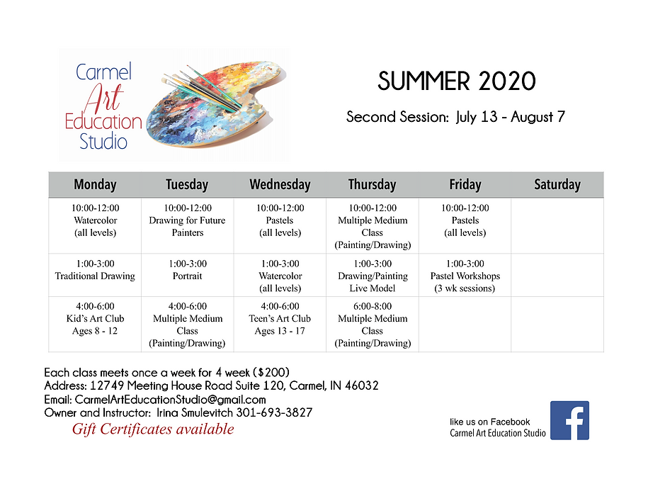 Class Schedule 2nd Summer Session 2020.p