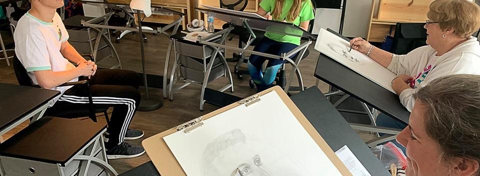 in Portrait class