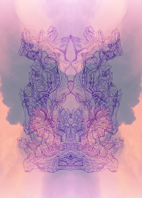 flying purple alien