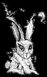 bunnywood, bunny wood, wooden bunny