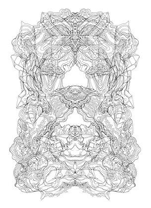 Rorschach Formation V2; Coloring Poster