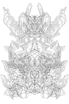 Rorschach Formation V1; Coloring Poster