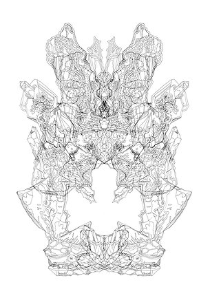 Rorschach Formation V5; Coloring Poster