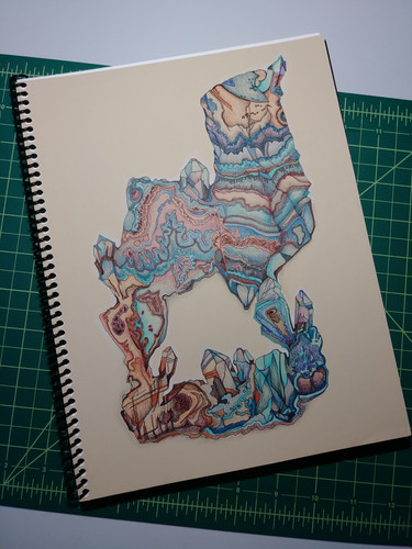 8.5x11 spiral-bound coloring book