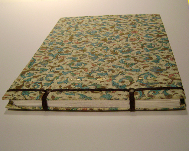 Stab binding with decorative papers.