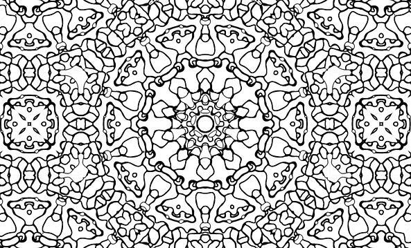 Coloring Page Pattern Example, 10 organic divisions