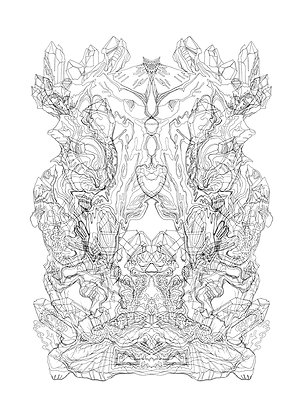 Rorschach Formation V7; Coloring Poster