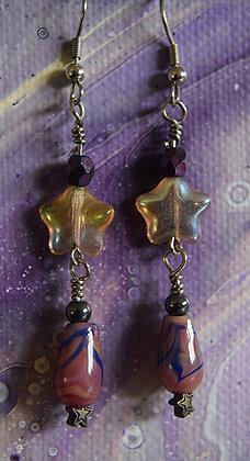 Purple Striped Stars