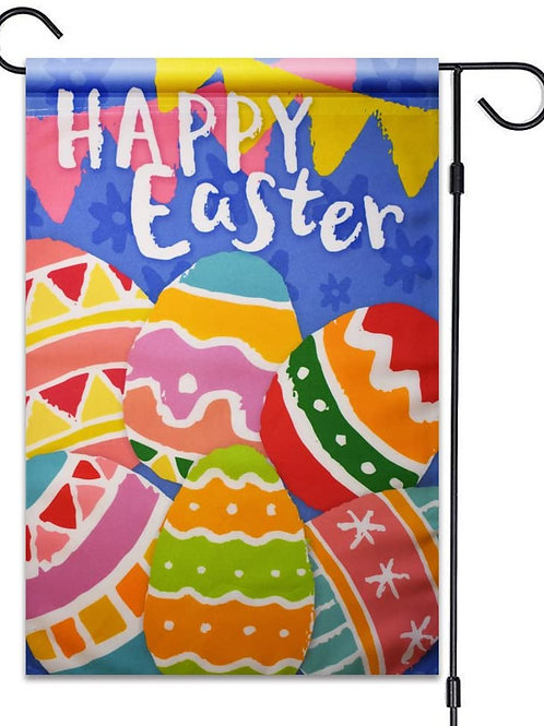 "51groups Happy Easter Eggs Garden Flag 12""X18"" Easter Eggs Decorative Flag 100%"