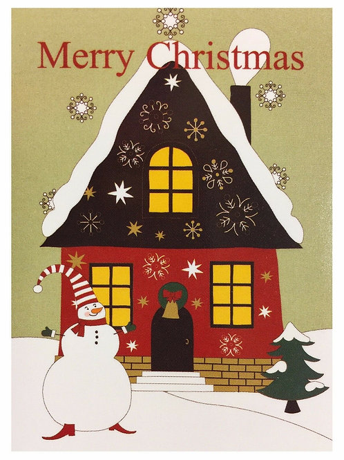 Merry Christmas House 28*40
