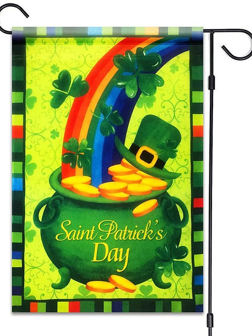 St. Patrick's Day Rainbow Shamrock Hat Gold
