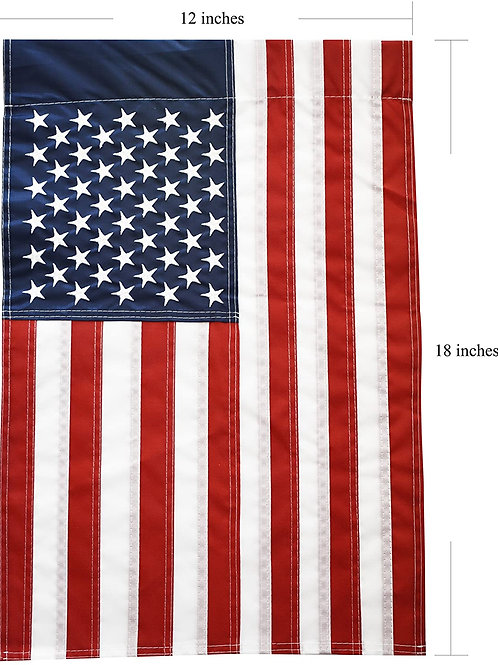 51groups New Embroidered Stars American Flag, Weatherproof USA Flag, Show United