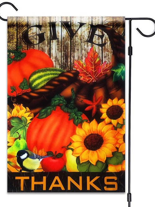 "51groups Fall Pumpkin Decorative Garden Flag 12"" X 18"" | Happy Harvest Designe"
