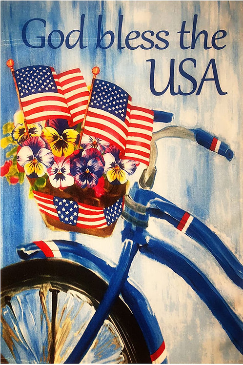 """51groups God Bless The USA Garden Flag 12""""X18"""" American Flags Patriotic Decorati"""